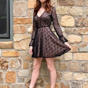 New Black Lace Dress, Size S